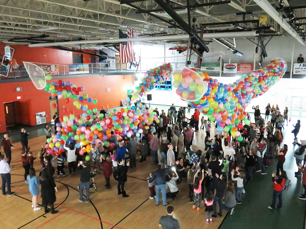 Fall Event Balloon Drop